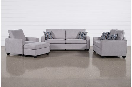 Reid Smoke 4 Piece Living Room Set