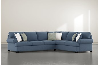 "Brody 2 Piece 126"" Sectional With Left Arm Facing Sofa"