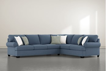 """Brody 2 Piece 126"""" Sectional With Left Arm Facing Sofa"""