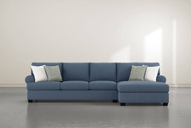 """Brody 2 Piece 133"""" Sectional With Right Arm Facing Chaise - 360"""