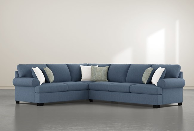 """Brody 2 Piece 126"""" Sectional With Right Arm Facing Sofa - 360"""