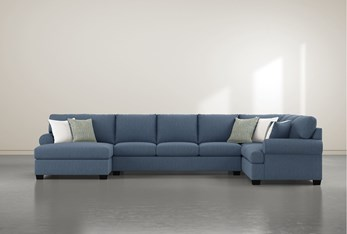 """Brody 3 Piece 163"""" Sectional With Left Arm Facing Chaise"""