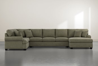 """Brody Green 3 Piece 163"""" Sectional With Right Arm Facing Chaise"""