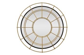 39 Inch Gold Circle Layered Mirror
