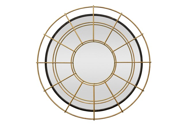 39 Inch Gold Circle Layered Mirror - 360