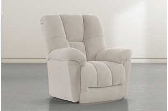 Maurer II Taupe Power-Lift Recliner