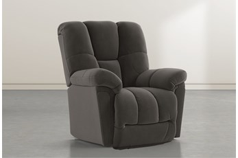 Maurer II Dark Grey Power-Lift Recliner