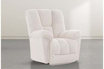 Maurer II Ivory Power-Lift Recliner