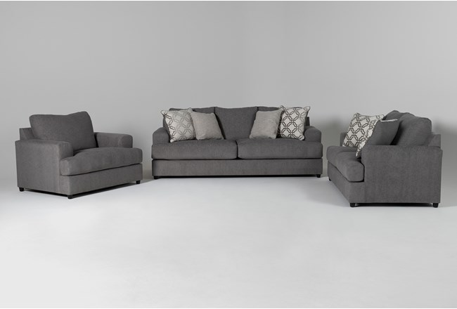 Milani 3 Piece Living Room Set with Queen Sleeper - 360