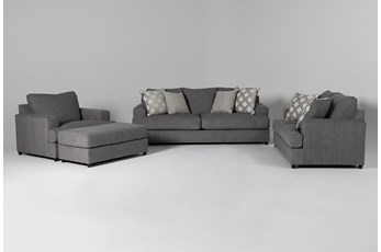 Milani 4 Piece Living Room Set with Queen Sleeper
