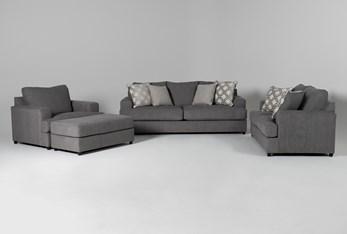 Milani 4 Piece Living Room Set with Queen Sleeper