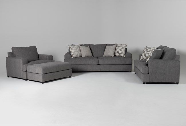 Milani 4 Piece Living Room Set with Queen Sleeper - 360