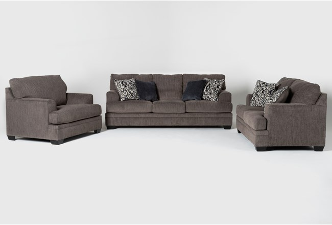 Harland 3 Piece Living Room Set with Queen Sleeper - 360
