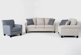 Briella 3 Piece Living Room Set With Queen Sleeper