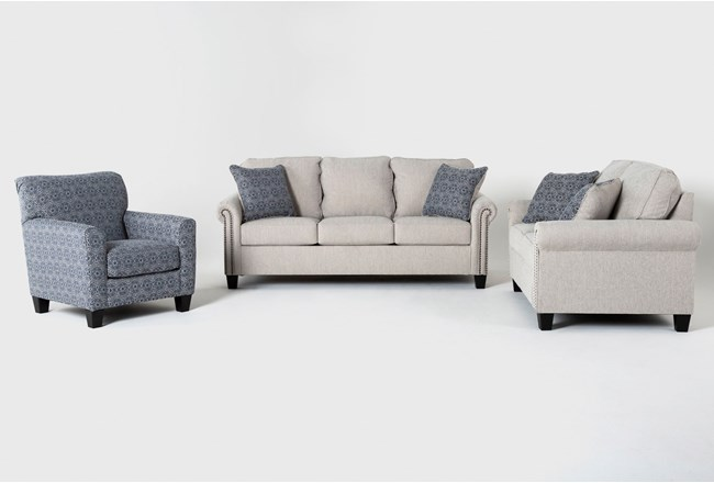 Briella 3 Piece Living Room Set With Queen Sleeper - 360