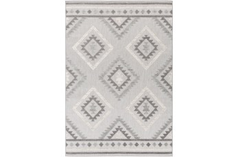 94X123 Outdoor Rug-Native Grey