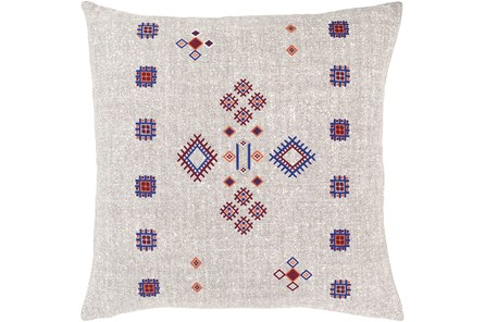 Accent Pillow-Mod Southwest Blue/Red 18X18