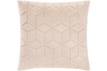 Accent Pillow-Diamond Quilt Beige 20X20