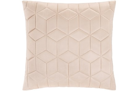 Accent Pillow-Diamond Quilt Beige 20X20