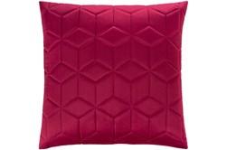 Accent Pillow-Diamond Quilt Berry 20X20