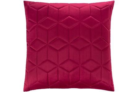 Accent Pillow-Diamond Quilt Berry 20X20 - Main