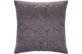 Accent Pillow-Diamond Quilt Graphite 20X20