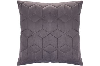 Accent Pillow-Diamond Quilt Graphite 20X20