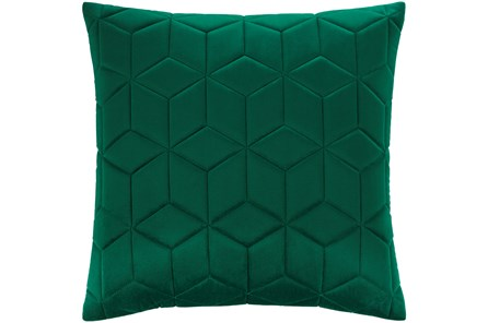 Accent Pillow-Diamond Quilt Emerald 20X20