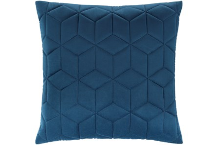 Accent Pillow-Diamond Quilt Cobalt 20X20 - Main