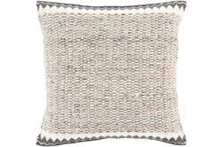 Accent Pillow-Knotted Texture Border Grey 22X22
