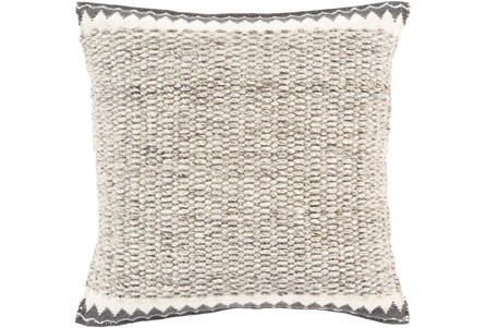 Accent Pillow-Knotted Texture Border Grey 22X22 - Main