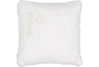 Accent Pillow-Plush Fur White 20X20