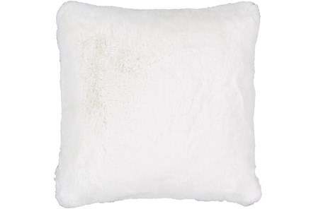 Accent Pillow-Plush Fur White 20X20