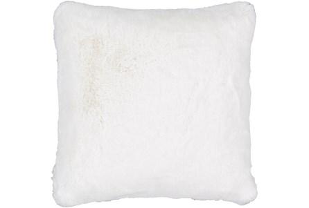 Accent Pillow-Plush Fur White 20X20 - Main