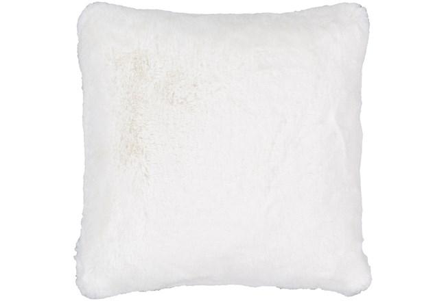 Accent Pillow-Plush Fur White 20X20 - 360