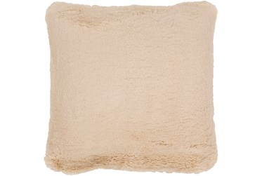 Accent Pillow-Plush Fur Taupe 20X20