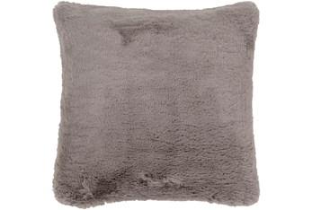Accent Pillow-Plush Fur Grey 20X20