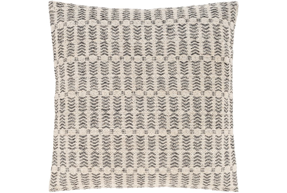 Accent Pillow-Knotted Texture Grid Grey 20X20