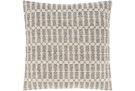 Accent Pillow-Knotted Texture Grid Grey 20X20 - Main