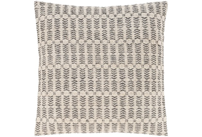 Accent Pillow-Knotted Texture Grid Grey 20X20 - 360
