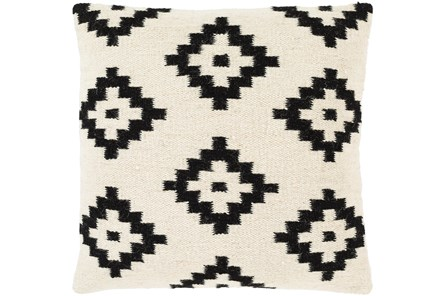 Accent Pillow-Mod Southwest Black And White Diamonds 20X20