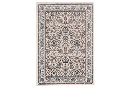 63X90 Rug-Karshan Cotton/Aqua