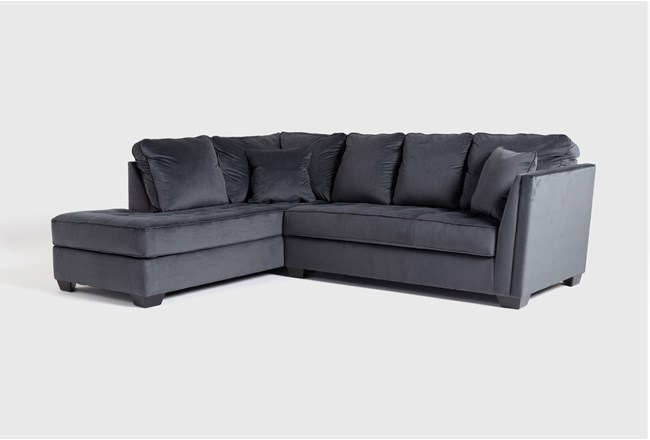 "Maven Shadow 2 Piece 112"" Sectional with Left Arm Facing Chaise - 360"