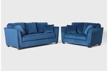 Maven Ink Blue 2 Piece Living Room Set