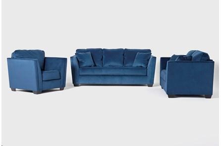 Maven Ink Blue 3 Piece Living Room Set