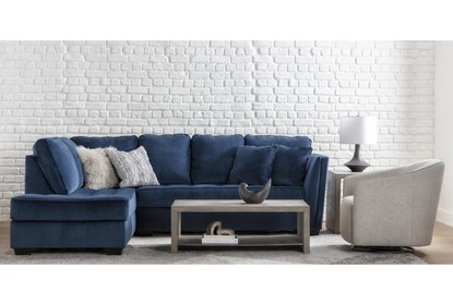 Maven Ink Blue 2 Piece 112 Sectional With Left Arm Facing Chaise Living Spaces