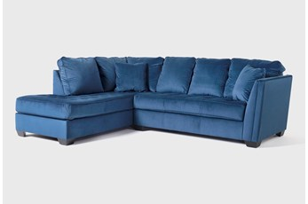 "Maven Ink Blue 2 Piece 112"" Sectional with Left Arm Facing Chaise"