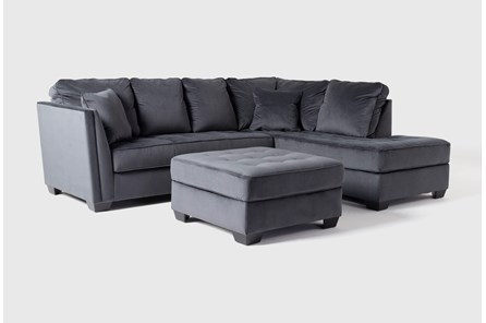Maven Shadow 2 Piece Sectional With Raf Chaise And Cocktail Ottoman