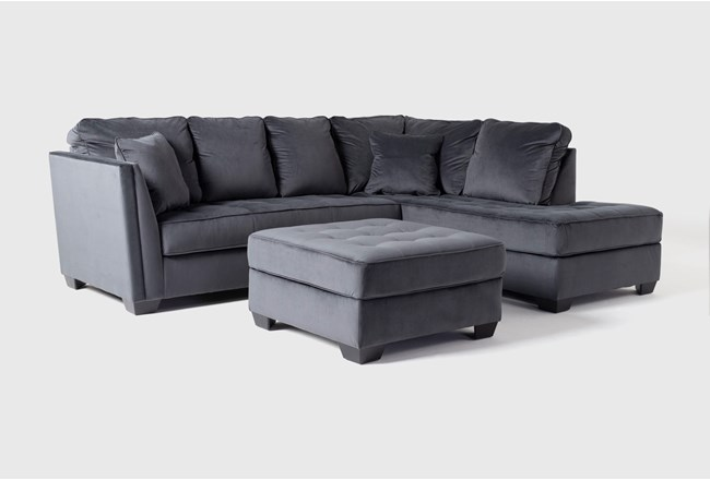 Maven Shadow 2 Piece Sectional With Right Arm Facing Chaise And Cocktail Ottoman - 360