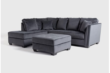 Maven Shadow 2 Piece Sectional With Left Arm Facing Chaise And Cocktail Ottoman